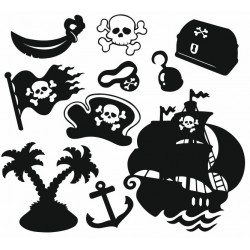 Sticker - Planche Pirate (REFH756