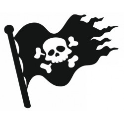 Sticker - Drapeau de pirate (REFH760