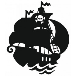 Sticker - Bateau de pirate (REFH766