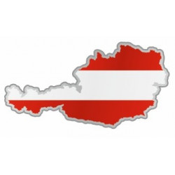 Sticker Autriche carte et drapeau