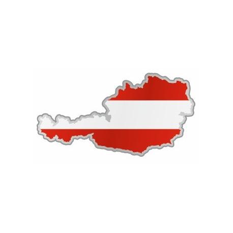 Sticker - Carte et drapeau Autriche (REFH767