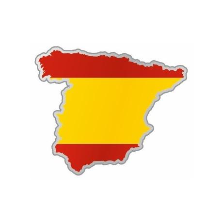 Sticker - Carte et drapeau Espagne (REFH791