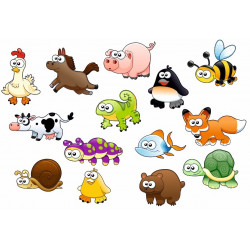 Sticker mural Animaux Ferme Mer Montagne KIT