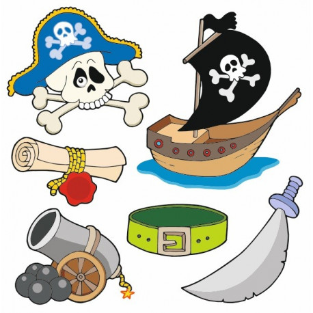 Sticker - Planche motif pirate (REFH865