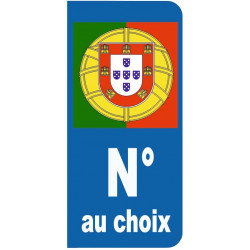 Sticker - plaque Drapeau Portugal (REFG624)