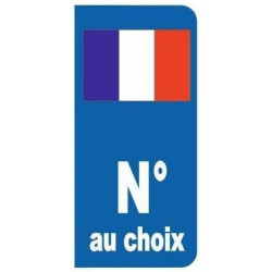 Sticker - plaque Drapeau France (REFH405)