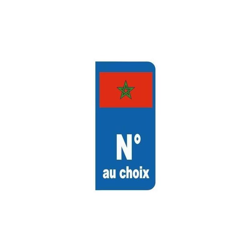 sticker plaque immatriculation drapeau maroc etiquette autocollant. Black Bedroom Furniture Sets. Home Design Ideas
