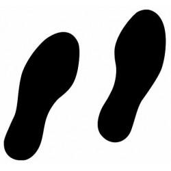 Sticker - pieds et pas pour sol (REFI046)