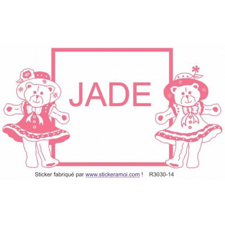 Sticker - plaque prénom (R3030-14
