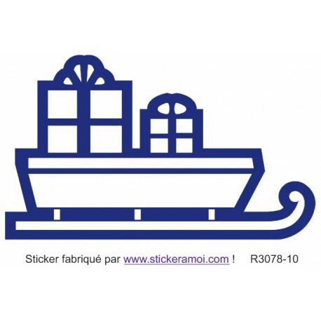 Sticker - Traineau cadeaux du père Noël (R3078-10)