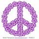 Sticker - Peace and Love logo en fleurs (R3092-21)