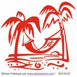 Sticker - Plage hamac déco (R3118-07)