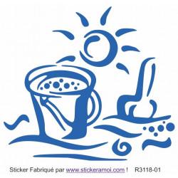 Sticker - Plage sot de sable déco (R3118-01)