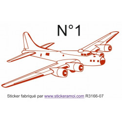 Sticker - Avion garçon (R3166-07)