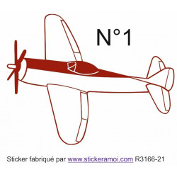 Sticker - avion (R3166-21)