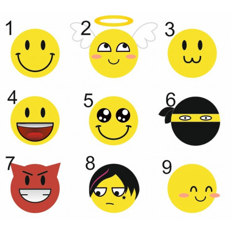 Sticker Planche - Smileys (REFJ018)