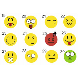 Sticker Smiley Lot Planche