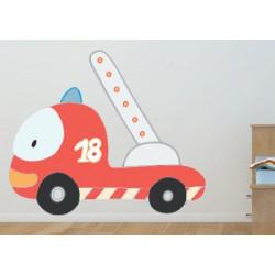Autocollant Camion de Pompier
