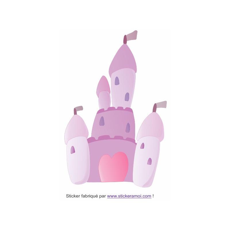 Stickers Chambre Fille Feerique : Sticker princesse chateau féerique déco chambre fille