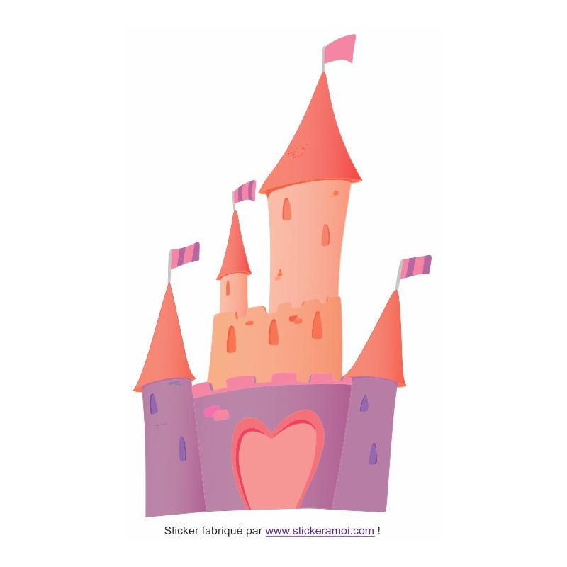 autocollant chambre fille sticker princesse chateau princesse d co chambre fille