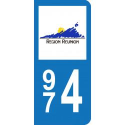 974 -Plaque immatriculation - Réunion (G608)