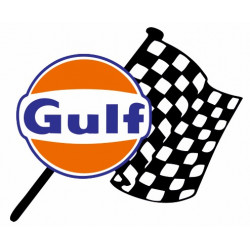 Sticker Gulf Damier