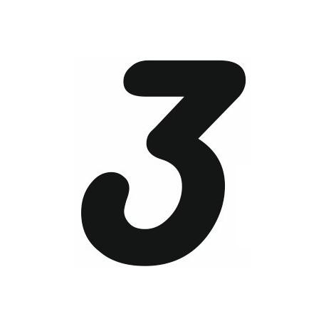 Sticker Chiffre 3 Pour Coller Sur Votre Voiture Ou Moto