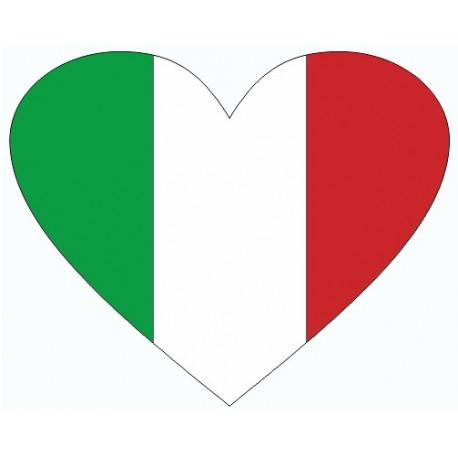 sticker drapeau italie en forme de coeur etiquette autocollant. Black Bedroom Furniture Sets. Home Design Ideas