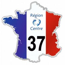 Sticker département 37 Indre et Loire
