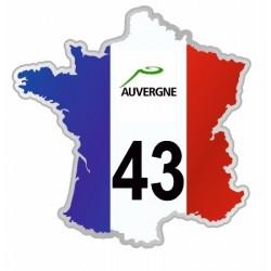Sticker département 43 Haute Loire