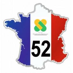 Sticker département 52 Haute Marne