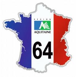 Sticker département 64 Pyrénées Atlantiques