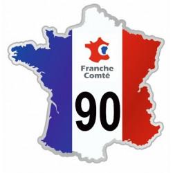 Sticker département 90 Territoire de Belfort