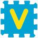 Sticker alphabet lettre V