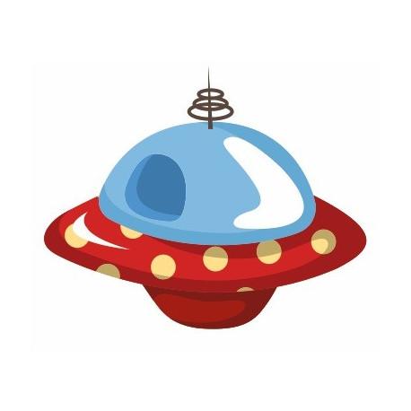 Sticker soucoupe volante espace chambre enfant etiquette - Soucoupe volante dessin ...