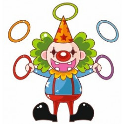 Sticker mural Clown jongleur
