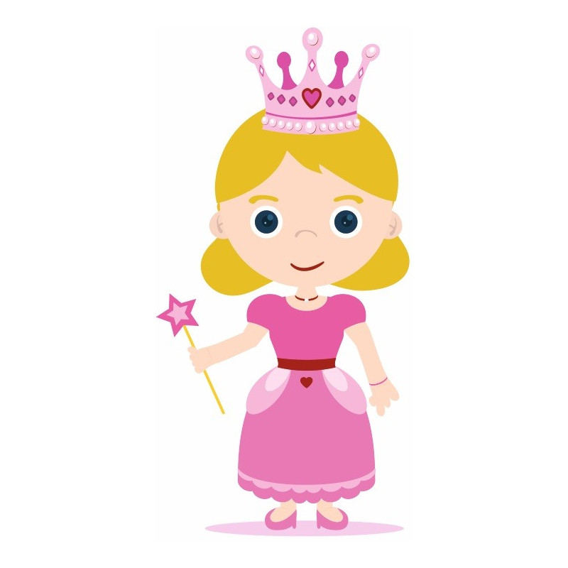 Sticker princesse rose univers princesse chambre fille etiquette autocollant - Tickers chambre fille princesse ...