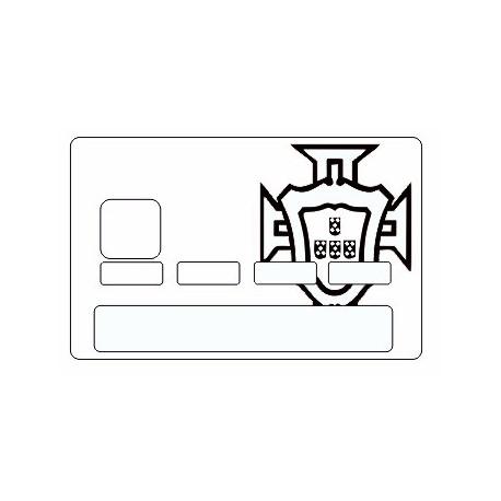 Sticker carte bancaire Portugal FPF