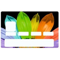 Sticker carte bancaire Fleur