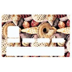 Sticker carte bancaire Coquillage