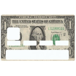 Sticker carte bancaire Billet 1 Dollar