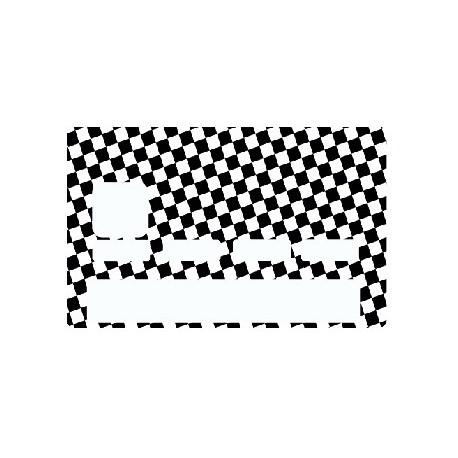 Sticker carte bancaire Damier