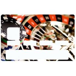 Sticker carte bancaire Casino Roulette