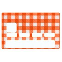 Sticker carte bancaire Vichy Orange