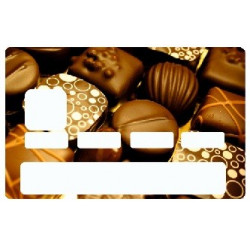 Sticker carte bancaire Chocolat