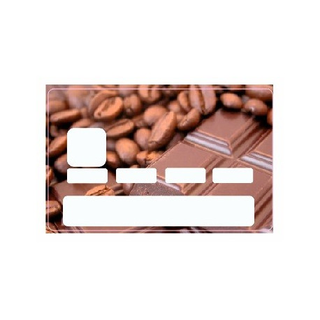 Sticker carte bancaire Chocolat