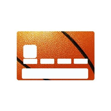 Sticker carte bancaire Basket Ballon