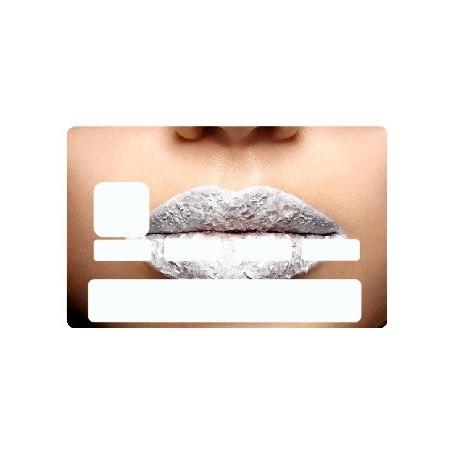 Sticker carte bancaire Bouche