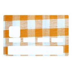 Sticker carte bancaire Vichy Orange 2