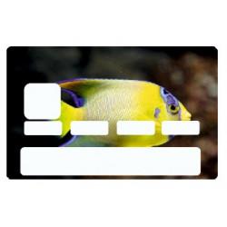 Sticker carte bancaire Poisson exotique jaune